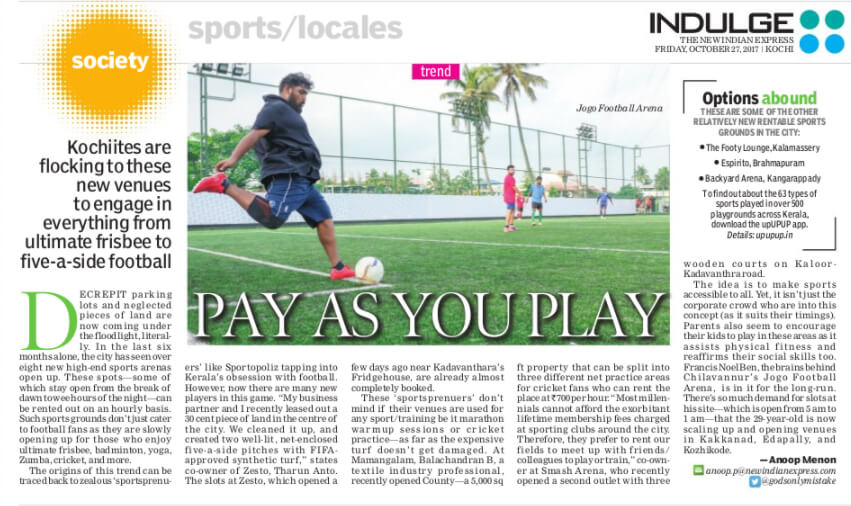 Pay As You Play - New Indian Express